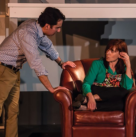 ALL IN YOUR MIND Anthony Martinez and Alison Peltz confront mental illness issues in 'Next to Normal.' - JON BRETAN