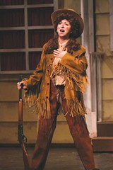 ANNIE GET YOUR AWARD Denise Elia-Yen was honored for her portrayal of Annie Oakley. - ERIC CHAZANKIN