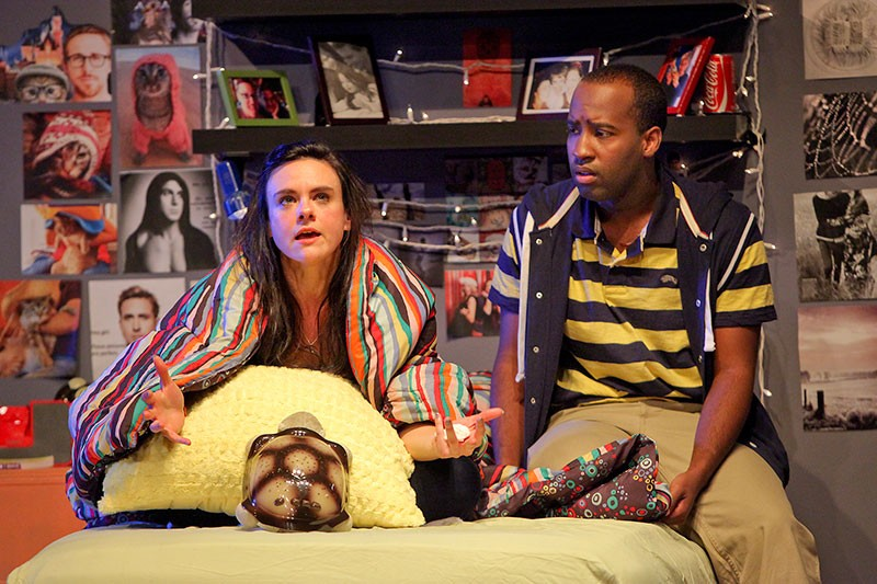 ATTIC LIFE Jessica Lynn Carroll and Devion McArthur co-star in Lauren Gunderson's new play. - ED SMITH