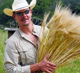 BARLEY MAN: John Fendley of the Sustainable Seed Company, one of many heirloom purveyors in Petaluma .
