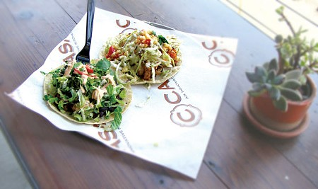 BEYOND THE POLLO Hey, you, taco-truck guy—how much would you pay for a rotisserie-duck taco? - JAMES KNIGHT