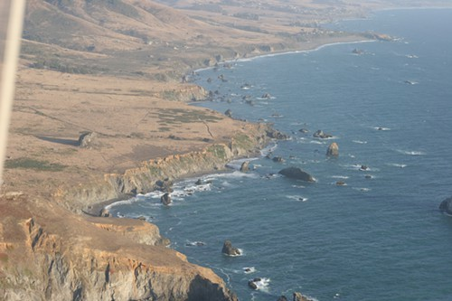 Birds eye view of Sonoma Coast State Beach