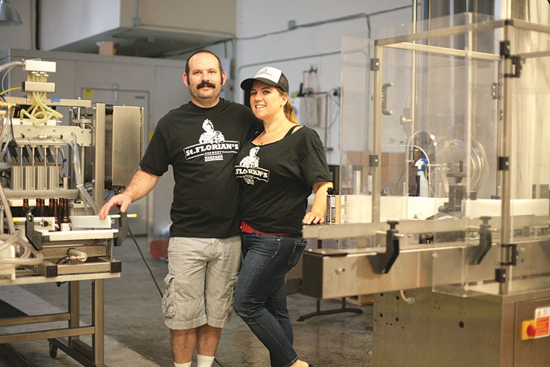 BOTTLED UP Among small brewers who keep their production in-house are Aron and Amy Levin of St. Florian's in Windsor. - GABE MELINE