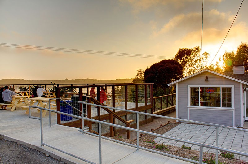 BY THE BAY The Birds Cafe offers spectacular sunset views. - NADAV SOROKER