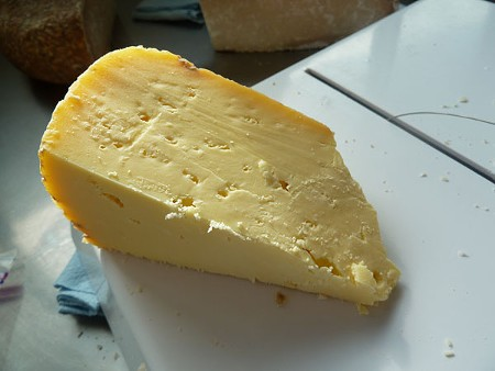 Capricious, an aged goat cheese, is the Achadinha Cheese Company's flagship cheese. - STETT HOLBROOK