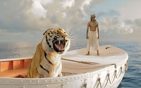 CAT'S CLAWS Suraj Sharma plays Pi, a boy trapped on a 20-foot boat with a tiger.