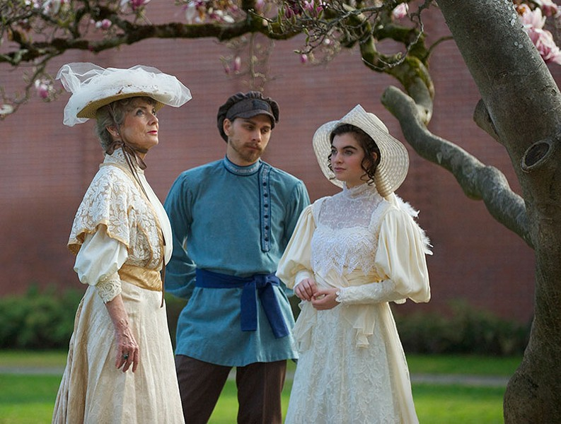 CHERRY PICKED Molly Umholtz, Devin Winter and Grace Kent in SRJC's 'Cherry Orchard.'