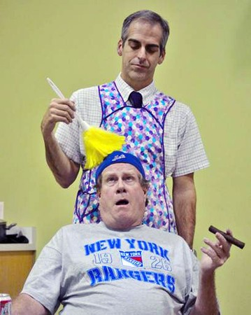 CLEAN THAT UP! Stephen Cannon and Tim Shippey in 'The Odd Couple.'