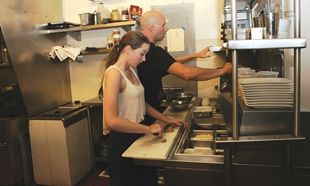 CULINARY EDUCATION Claire Anderson sometimes joins her dad, Brian Anderson, in the kitchen at his restaurant Bistro 29. - JOSHUONE BARNES