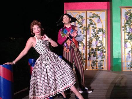 CUTUPS Allison Rae Baker as Beatrice with David Yen as Truffaldino.