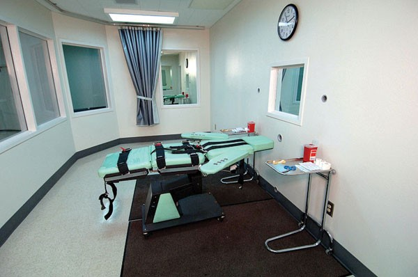 DEATH'S DOOR The lethal injection chamber at San Quentin, where former warden Jeanne Woodford oversaw four executions.