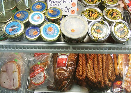 DELI DELICACIES  Customers drive from as far away as Eureka, says European Food Store's Olga Rozhkova. - FLORA TSAPOVSKY