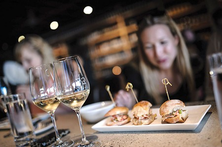 DOWNTOWN DELECTABLE Small plates on a seasonal rotation complement 1313 Main's popular wine offerings.
