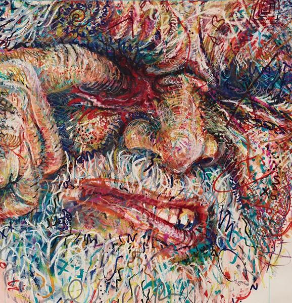 'EYE OF THE BEHOLDER (DETAIL)' Robert Arneson, Art Department, 1958-1959. (Detail from the biography 'A Troublesome Subject,' Jonathan Fineberg, University of California Press.) - ROBERT ARNESON