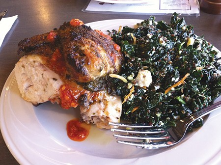 FINGER LICKIN' ROTISSERIE CHICKEN Rosso goes well beyond pizza at its Dutton Avenue spot in Santa Rosa.