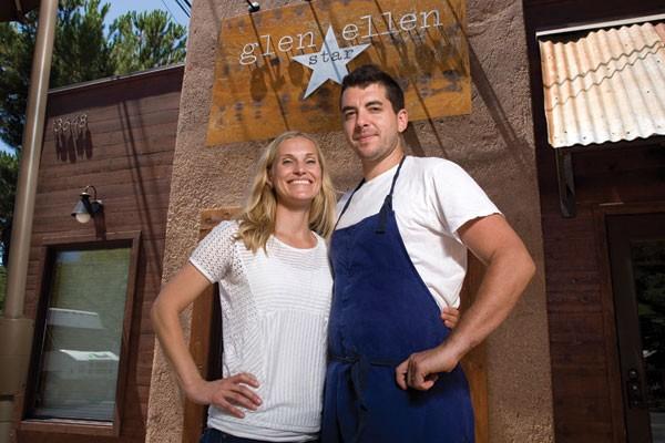 FIVE-POINT DUO Chef Ari Weiswasser and his wife, Erinn Benziger-Weiswasser, bring top-tier dining to Glen Ellen. - MICHAEL AMSLER