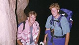 COURTESY MATT REYNOLDS - FOLLOWING DREAMS Chris Stevens, left, and cousin Matt Reynolds, backpacking together.