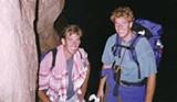 COURTESY MATT REYNOLDS - FOLLOWING DREAMS Chris Stevens, left, and cousin Matt Reynolds, backpacking together.