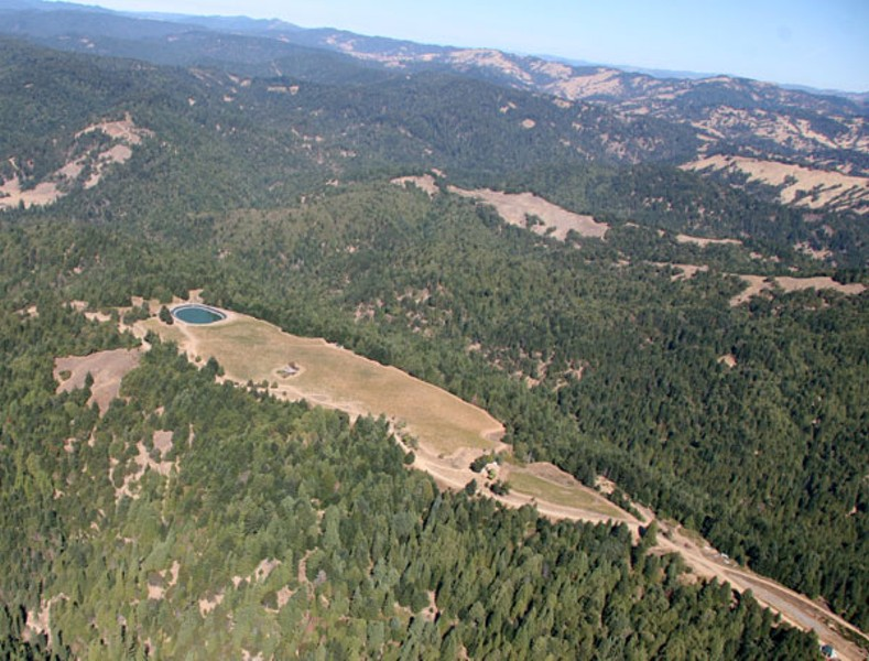 HILLTOP Evans Ridge Vineyard, part of Preservation Ranch, is shown in development stages in this 2007 photo. - JAMIE HALL
