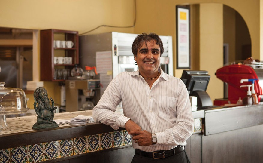 'I LOVE EVERYBODY' Ashok Kumar has a loyal customer base that follows him quite literally around the world. - SARA SANGER
