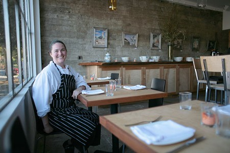 IN THE POCKET Chef Liza Hinman, formerly of Santi, crafts an accessible yet rewarding menu in this chic new spot. - ELIZABETH SEWARD