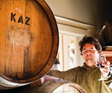 IN WITH THE NEW: Kaz Vineyards' Nate Lamar may soon be handling grapes from the fertile crescent of winemaking.