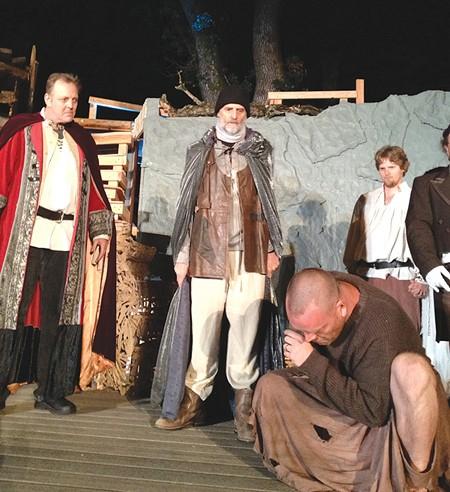 ISLE SETTING Samson Hood and John Craven (left and center) as Alonso and Prospero. - ELIZABETH CRAVEN
