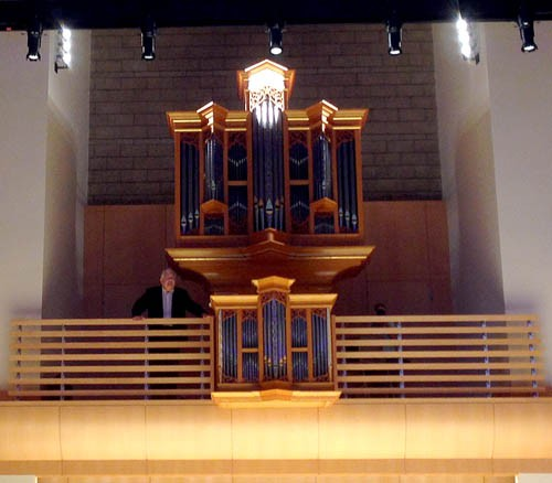 James David Christie at SSUs Brombaugh Opus 9 organ