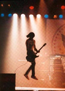 JOHNNY JUMP UP Johnny Ramone and his trademark bounce.