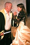 <b>KNIVES OUT</b> Julian Lopze-Morillas as Hieronimo, with Elena Wright as Bellimperia.