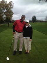 Maura Cook and Branford Marsalis, at Sonoma Golf Club.