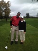 Maura Cook and Branford Marsalis, at Sonoma Golf Club.