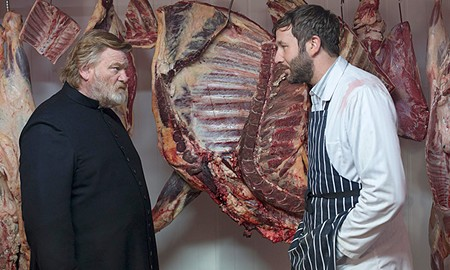 MEET YOUR MAKER Brendan Gleeson and Chris O'Dowd discuss Good Friday supper in 'Calvary.'