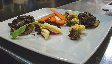 MMMMM The fabled veggie plate ($8), with butter-stuffed radishes. - NADAV SOROKER