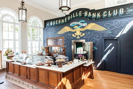 MORE THAN A PRETTY PLACE The remodeled 1921 Guernveville bank is home to three different businesses. - EDYTA SZYSZLO