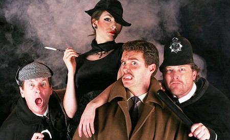 MULTIPLE PERSONALITIES Utilizing only four actors in all roles, '39 Steps' is a fast-paced thrill. - ERIC CHAZANKIN