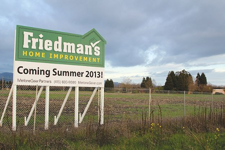 NAILS & SCREWS Though Friedman's has signed on as an anchor tenant, Petaluma can't possibly mitigate Deer Creek Village traffic. - MARIA TZOUVELEKIS