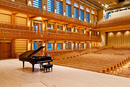 NEW DIGS, INDEED The concert hall at the Green Music Center is inspired by Tanglewood, in Massachussetts. - SONOMA STATE UNIVERSITY