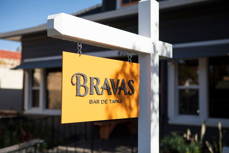 NO. 5 Bravas, in the former Ravenous location in Healdsburg, specializes in tapas. - SARA SANGER