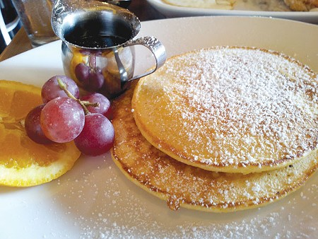 NO ORDINARY FLAPJACK Pumpkin pancakes at Three Square contain just a slight hint of the expected cinnamon flavor. - NICOLAS GRIZZLE
