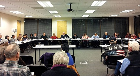 NOT THEIR PROBLEM? Talk of protestor harassment highlighted the first-ever law enforcement Task Force meeting.