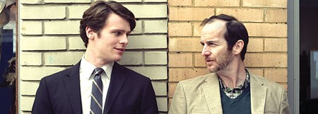 OFF THE MISSION Jonathan Groff, left, plays a young David Sedaris in 'C.O.G.'