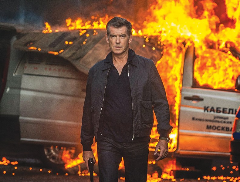 OLD FLAME Pierce Brosan lights it up as a veteran CIA killer.