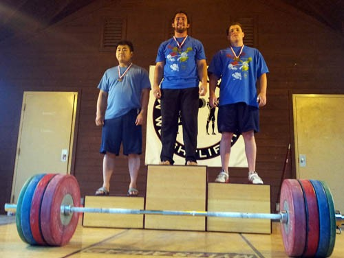 Olympic Weightlifters fom the 2012 Redwood Empire Championships receive awards