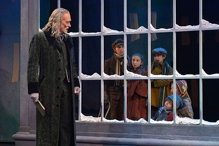 ON ICE Marley's ghost is part of a top-notch 'Carol' in San Francisco. - KEVIN BERNE