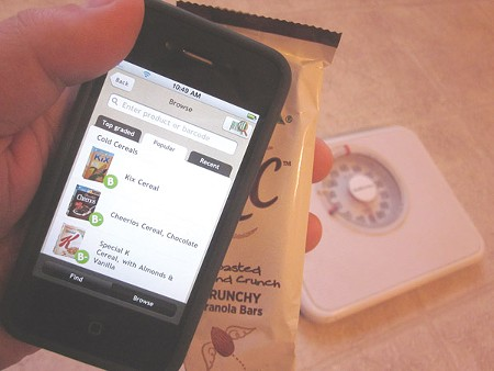 ON THE CURVE Apps like Fooducate can scan barcodes and rate your food purchases - before you see results on the scale.