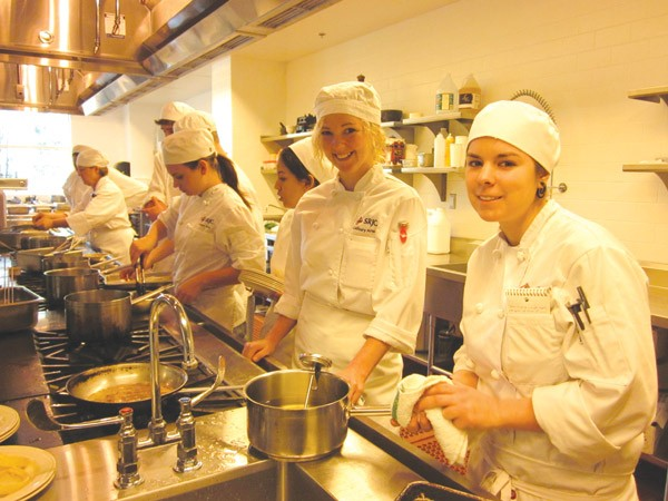 ON THE LINE Roughly 300-400 students are enrolled in the SRJC's culinary program. - LEILANI CLARK
