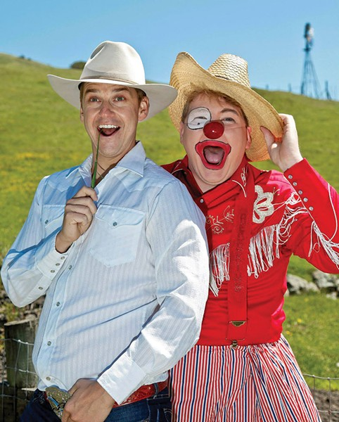 ON THE RANGE Patrick Russell and Jon Deline in 'A Comedy of Errors.'
