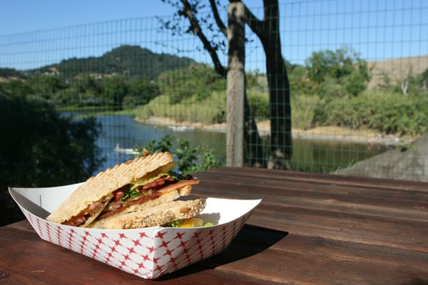 ON THE RIVER Zazu on the River's 'U-Pick' BLT provides interactive dining with a view. - GABE MELINE