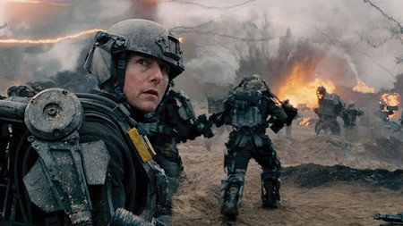 ONE DAY AT A TIME Tom Cruise has to relive a worse day in 'Edge of Tomorrow' than Bill Murray ever did.
